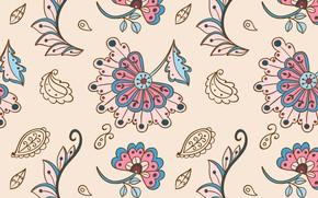 Картинка цветы, фон, текстура, текстиль, бесшовный фон