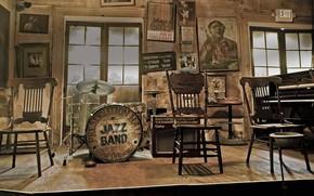 Картинка интерьер, джаз, США, Новый Орлеан, Презервейшн Холл