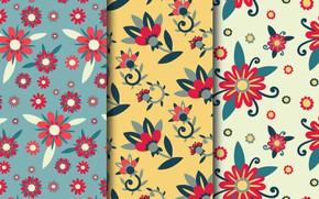 Картинка цветы, обои, текстура, patterns, flowers, leaves