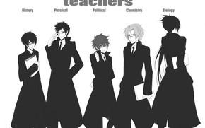 Картинка аниме, парни, мафия, Sawada Tsunayoshi, Rokudou Mukuro, Katekyo Hitman REBORN!, Hibari Kyoya, Gokudera Hayato, Yamamoto …