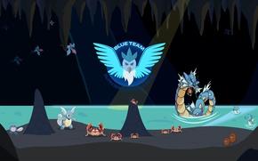 Картинка game, bird, Nintendo, Pokemon, Pokémon Go, Blue Team