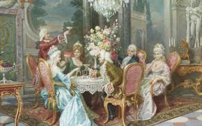 Картинка тосты, ужин, изящный век, Cleto Luzzi