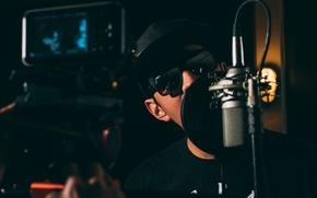 Картинка музыка, music, очки, микрофон, studio, microphone, студия