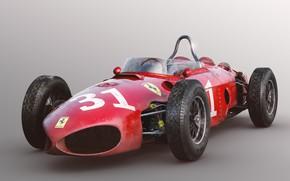 Картинка красный, автомобиль, Ferrari 156