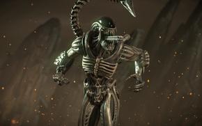 Картинка xenomorph, Mortal Kombat X, fighting, alien