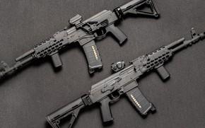 Картинка оружие, автомат, weapon, кастом, Калашников, Сайга, Custom, АКМ, AKM, assault Rifle, 5.56 мм, Saiga, 5.56(.223 …
