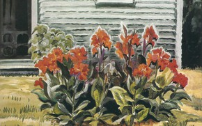 Картинка 1931, Charles Ephraim Burchfield, Cannas