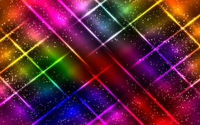 Обои neon, colorful, abstract, background, glittering