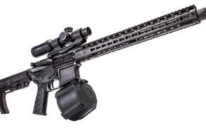 Картинка американская, AR-15, полуавтоматическая винтовка