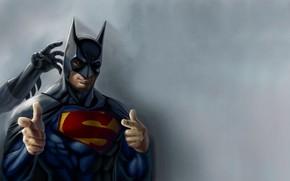 Картинка Hero, Batman, Superman, Funny, Humor