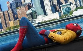 Обои город, нью йорк, Spider-Man:, человек паук, Человек-паук: Возвращение домой