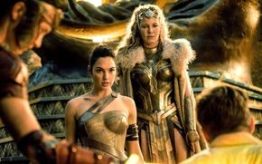 Картинка cinema, Wonder Woman, armor, movie, brunette, queen, film, warrior, DC Comics, Diana, strong, Gal Gadot, …