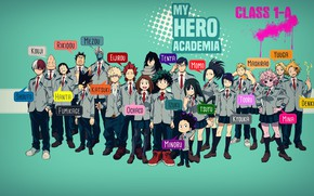 Картинка аниме, арт, герои, Boku no Hero Academia, Моя геройская академия