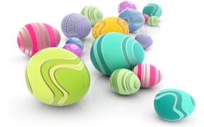 Картинка графика, яйца, Пасха, background, color, Easter, крашенки, Eggs