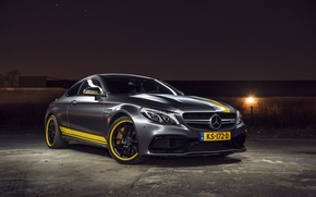 Картинка Mercedes, AMG, Coupe, Night, C63, Edition 1