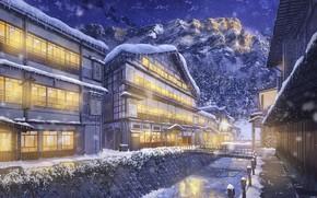 Обои дома, by NIK, зима, горы, снег, ели