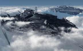 Картинка облака, корабли, Power Projection, scott macglasson beter 222