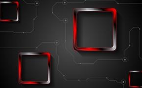 Картинка линии, абстракция, текстура, квадраты, abstract, red, black, squares