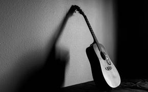 Обои свет, музыка, фон, гитара, тень