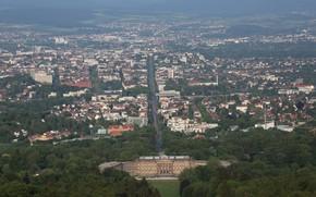 Картинка Кассель, Бергпарк, Вид с горы Геркулеса