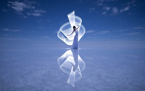 Картинка девушка, отражение, настроение, танец, Kim Henry