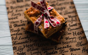 Картинка печенье, лента, десерт, wood, Cookie