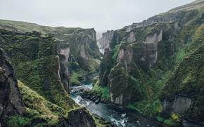 Картинка Природа, Скалы, Река, Ущелье, Пейзаж