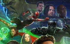 Обои Film, Т'Чалла, Воитель, Кино, Clint Barton, Benedict Cumberbatch, Mark Ruffalo, Бенедикт Камбербэтч, Марк Руффало, Superheroes, ...