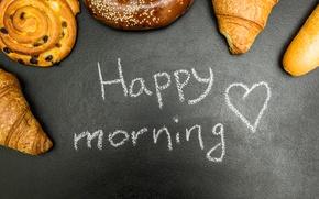 Картинка пончики, выпечка, good morning, булочки, круассаны