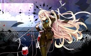 Картинка девушка, аниме, капельница, Utau