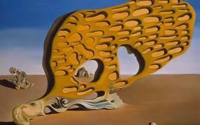 Картинка сюрреализм, картина, Сальвадор Дали, Salvador Dali, Загадка Желания