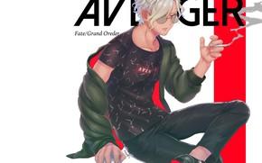 Картинка дым, аниме, арт, парень, Avenger, Fate / Grand Order, Edmond Dantès