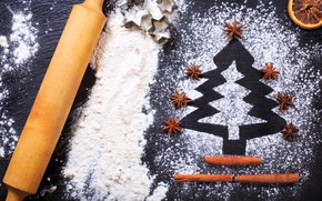 Картинка печенье, Рождество, Christmas, выпечка, мука, cooking, ингредиент