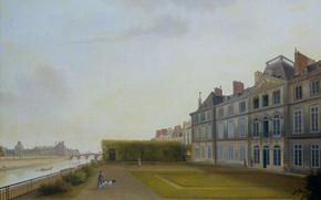 Картинка масло, картина, холст, Йозеф Август Книп, Батавское Посольство в Париже