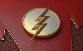 Картинка logo, lightning, suit, The Flash, Barry Allen, Grunt Gustin