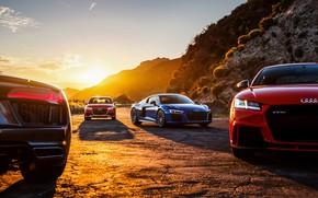 Картинка Audi R8, Audi TT RS, Audi RS 3