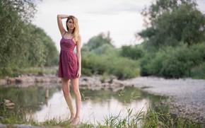 Картинка лето, лицо, фон, платье, Theresa