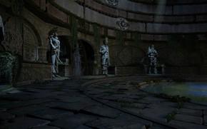 Картинка статуи, помещение, водоём, Uncharted 4, A Thiefs End