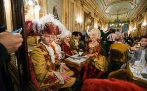 Картинка Италия, костюм, Венеция, карнавал, кафе Флориан
