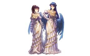 Картинка фон, девушки, Overlord, Владыка, платья
