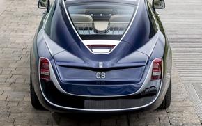 Картинка car, Rolls Royce, blue, Rolls Royce Sweptail