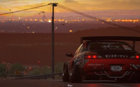 Картинка закат, Silvia, Nissan, NFS, tuning, Electronic Arts, Need For Speed Payback