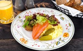 Картинка рыба, огурец, салат, пюре