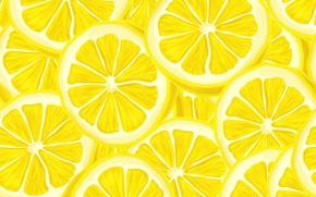 Обои желтый, текстура, лимон, цитрус