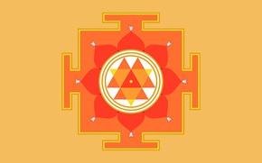Картинка фон, янтра, значение, Дурга