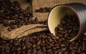 Обои кофе, аромат, зерна