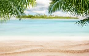 Обои океан, tropical, summer, Maldives, crystal, море, sunset, песок, sea, пляж, sand beach, beach, природа, island, ...