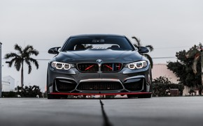 Картинка BMW, Front, Gray, Face, Strict, Sight, F83