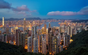 Обои Гонконг, мегаполис, skyline, Hong Kong, Сянган
