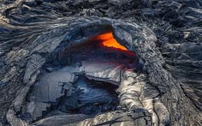Картинка вулкан, Гавайи, лава, США